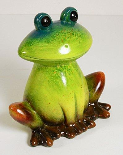 Grenouille Vert H : 25 cm, profondeur : : 26 x 15 cm, Céramique