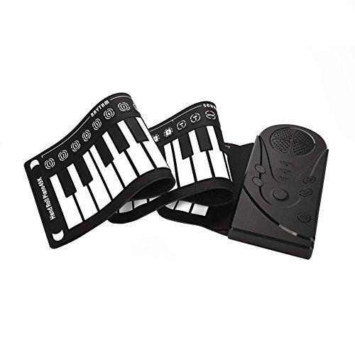 Fdit Elektronische Hand-Keyboard mit 49 Tasten für Kinder Anfänger schwarz