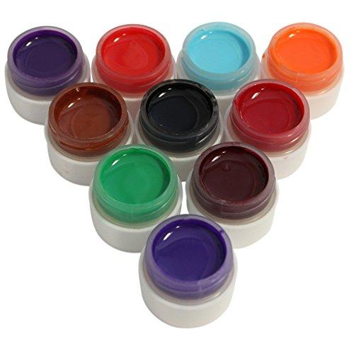 40-tlg. Nail-Art-Set - enthält 10 x UV Gelnagellack und 30 Rollen Nagelklebeband - ideal für den Mütter, Ehefrauen oder Schwestern von Kurtzy