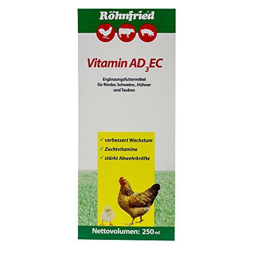Röhnfried Vitamin ADEC Vitaminkonzentrat (250 ml) für Hühner, Rinder, Schweine & Geflügel, flüssiges Ergänzungsfutter für Wachstum & Legeleistung - 2
