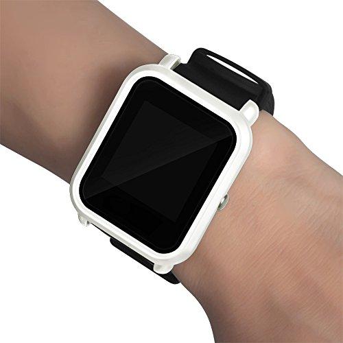 Wanshop  Elegante Leichte Hülle Kratzschutz Slim Minimalistisch PC Schale Hardcase Schutzhülle Schlank Case Cover für xiaomi huami amazfit bip Jugend Watch (Weiß)