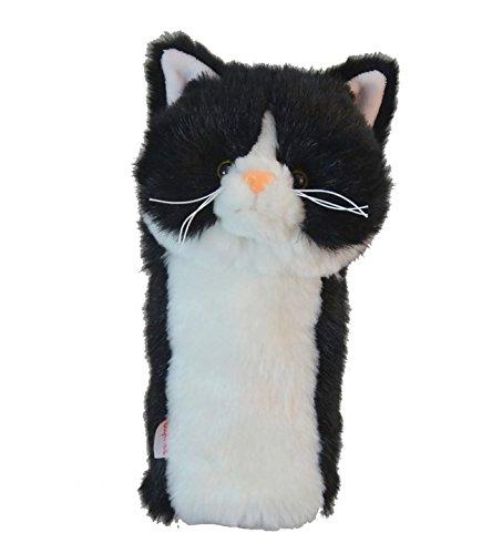 Daphne's Noir et blanc Tuxedo Cat Club hybride, bois de parcours ou Rescue Club de golf Couvre-fer