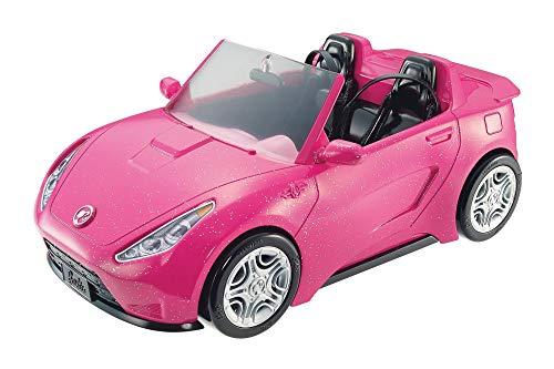 Barbie DVX59 - Cabrio Fahrzeug, in pink, mit Platz für 2 Puppen, Puppen Zubehör, ab 3 Jahren