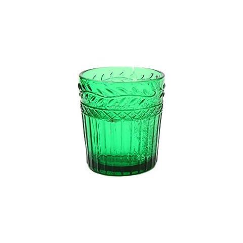 européenne rétro Palais Bourbon Dynastie classique Feuilles de saule Reliefrelief gravé en verre à champagne Beer Cup Juice Cup Drink Cup Green-360ML