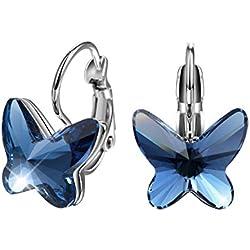 Pendientes con mariposa azul - otros colores a elegir