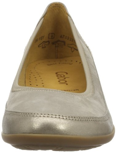 Gabor Shoes Gabor 84.181.63 Damen Ballerinas Grau (visone/mutaro)