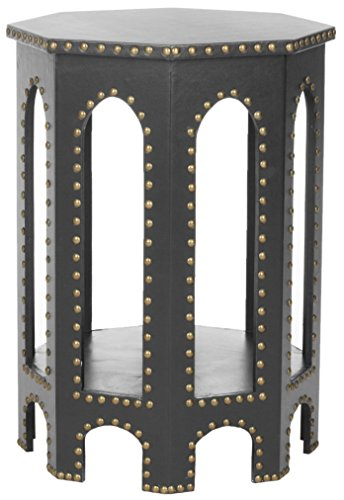 Safavieh EAF9501 Beistelltisch, Holz, Grau, 39 x 42 x 55.88 cm