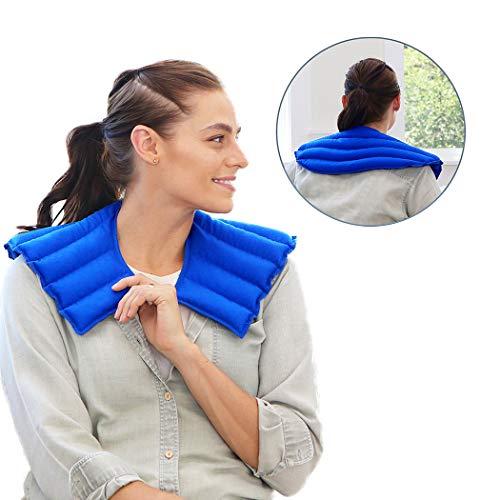 My Heating Pad Hals Und Schulter Wickeln Natürliche Wärme Therapie Hals Schmerzlinderung (Blau) -