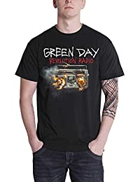 4eb9b485 Green Day T Shirt Revolution Radio Album Cover Band Logo Official Mens Black