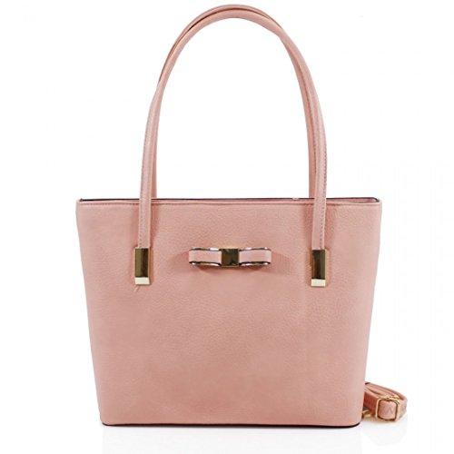 HB Style, Borsa tote donna Multicolore Multicoloured Pink