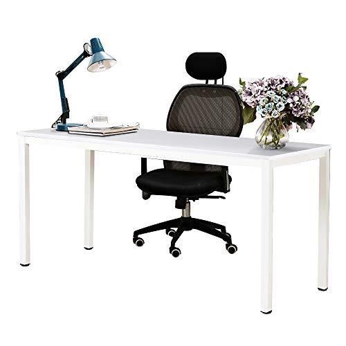 NeedHome Computer Schreibtisch 160 x 60 x 75 cm PC Schreibtisch Büro Schreibtisch Workstation für Home Office Verwenden Schreibtisch, Esstisch Konferenztisch, Weiss,AC3DW-160-SH