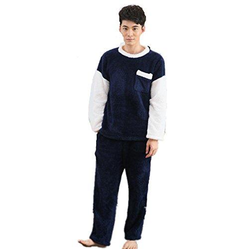 DMMSS L'autunno e l'inverno corallo velluto pigiama di flanella Sleepwear vestito degli uomini , m - Terry Bambino Bambola