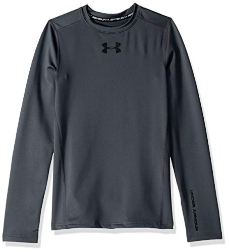 Under Armour Jungen ColdGear Armour Crew Langärmelig, Pitch Gray (012)/Black, Jugend Large (Armour-jugend-cold Gear Under)