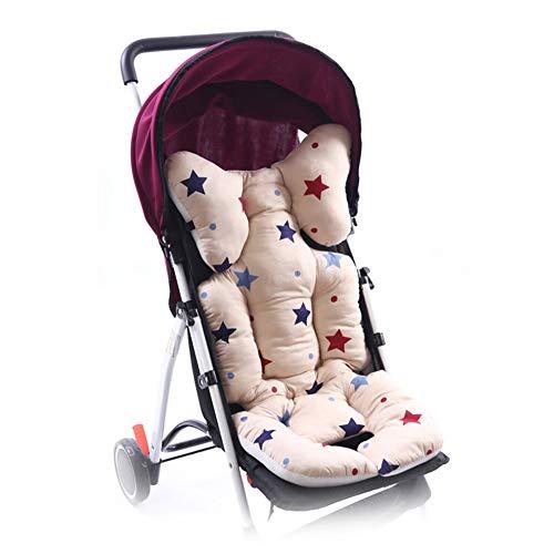 Sitzauflage für Kinderwagen, Yuccer Sitzverkleinerer Atmungsaktiv Baumwolle Kinderwagen Auflage Hochstuhl Pad Für Neugeborene Baby (Hellrosa)