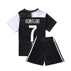 Idea Regalo - Daoseng 2019-2020 Tuta da Allenamento per Ragazzo Uniforme da Calcio T-Shirt a Maniche Corte + Pantaloncini (2019-2020 No.7, T20/Altezza Bambini 115-125CM)