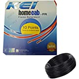 KEI-HOMECAB-FR 1.5 Sq.Mm PVC Insulated Single Wire-90M -Black