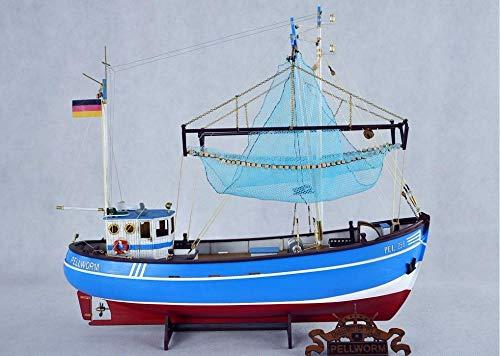 POTOLL Maquetas De Barcos Kits De Modelo De Barco Kit De Barco De Madera Escala 1 / 48Crab Barco De Pesca Modelo De Barco De Madera