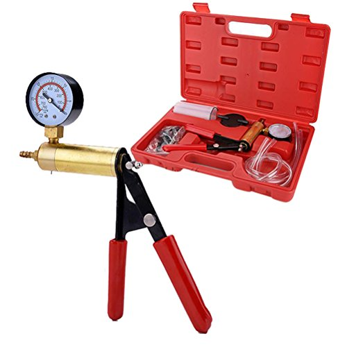 winomo Hand Held Vacuum Pump, Hand Held Vacuum Pump with Gauge, 2 in 1 Brake Bleeder Vacuum Pump Gauge Test Tuner Kit Tools DIY Hand Tools