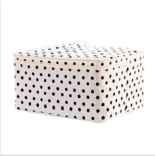 RZRCJ Faltbare Aufbewahrungstasche Kleidung Decke Quilt Closet Sweater Organizer Box Pouches Bedruckte Quilt-Tasche Quilt-Tasche (Color : Dot) (Tasche Quilt)