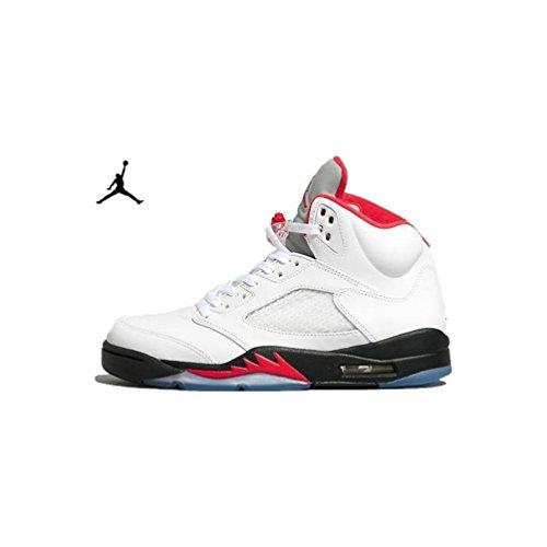 Nike air jordan 5 retro/white