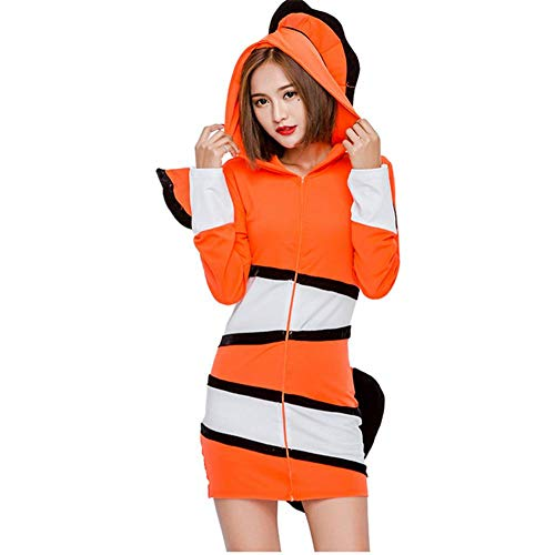 GUAN Clownfish Marine Uniform Anzug Marine Thema Party Kostüm Cosplay Bühnenkostüm Halloween-Kostüm