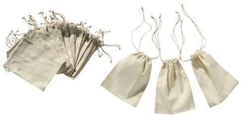 24 Baumwollbeutel mit Zugband - Zustand Kordelzug
