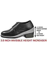 Bxxy's 3 Inch Height Increasing Formal Full Leather Shoes