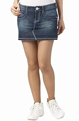 Adidas Neo Denim Jeans Mini Micro Skirt