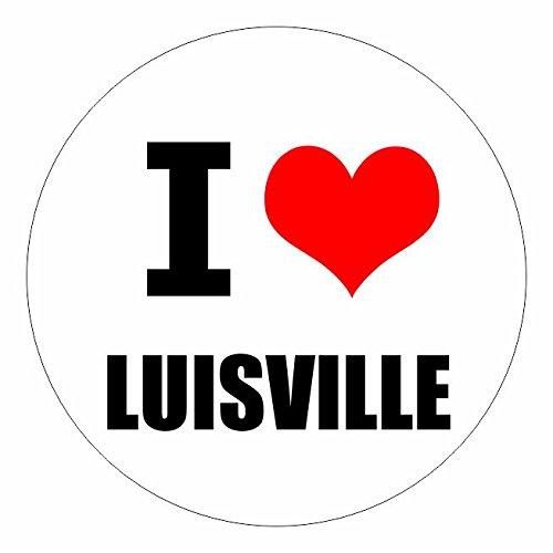I love Luisville Kentucky in 2 Größen erhältlich Aufkleber mehrfarbig Sticker Decal (Derby Museum Kentucky)