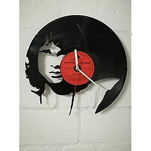Wanduhr aus Vinyl Schallplattenuhr mit Jim Morrison The Doors Motiv upcycling design Uhr Wand-deko vintage-Uhr Wand…