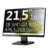 Xianan 21,5 Zoll 16:9 Breitbild Bildschirmfilter Displayfilter Displayschutz Blickschutzfolie Sichtschutzfolie Privacy Filter 18,76x10,55zoll/476,5x268mm