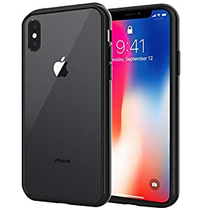 JETech Cover per Apple iPhone X Custodia Case, Shock-Absorption Bumper e Anti-Scratch (Nero)
