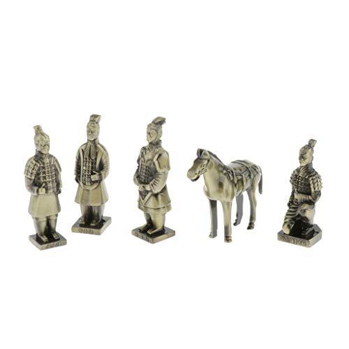 Hellery Chinesischer Krieger Steinfigur Krieger Terrakotta Armee Statue für Haus und Garten, Gartenfigur, Gartendekoration - wie Beschreibung, L