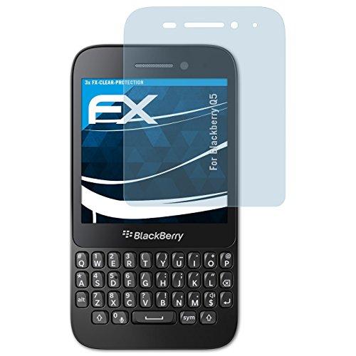 atFolix Schutzfolie kompatibel mit BlackBerry Q5 Folie, ultraklare FX Bildschirmschutzfolie (3X)