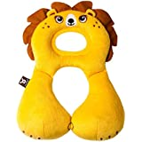 Baybee Toddler Headrest & Neck Support Pillow - Baby Infant Car Seat Accessory | Soft Headrest Neck Support For 0-12 Month Old Toddlers - Comfortable And Reversible - Yellow