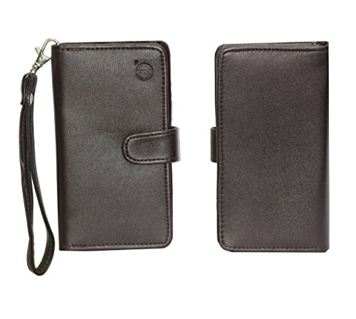 Jo Jo A9 G12 Leather Carry Case Cover Pouch Wallet Case For ZTE Blade S6 Plus Brown