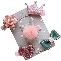 K-youth® 5pcs niños horquilla infantil bebé flor arco barrettes estrella pinza de pelo