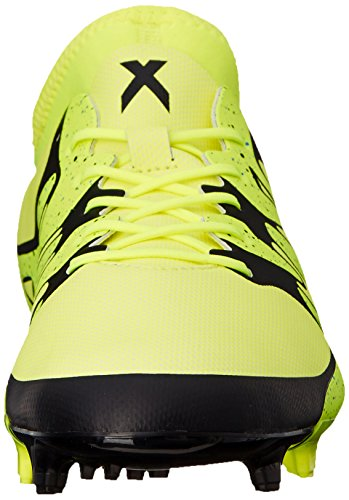 Adidas Performance X 15.2 Firm / artificiale campo di calcio Bitta, nero / shock menta / bianco, 6,5 Solar Yellow/Core Black/Solar Yellow