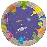 8 Teller * WELTRAUM * für Kindergeburtstag von DH-Konzept // Geburtstag Kinder Party Alien Kinderparty Ufo Space Weltall all