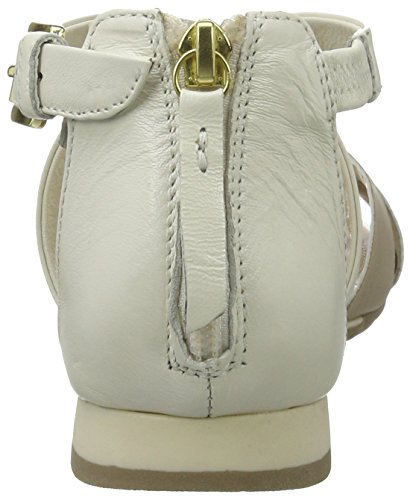Geox D Formosa A, Sandali con Zeppa Donna Bianco (OFF WHITE/LT TAUPEC1181)