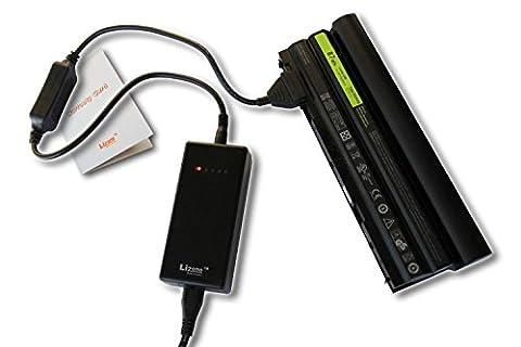 Lizone Chargeur externe de batterie pour ordinateur portable Dell INSPIRON 13 14 15 1525 17... LATITUDE MINI Inspiron PRECISION STUDIO VOSTRO Series Chargeur de batterie pour Dell 10.8V ou 11.1V 9 Pin