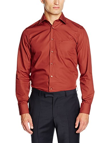 CASAMODA Herren Businesshemd Orange (Orange 456)