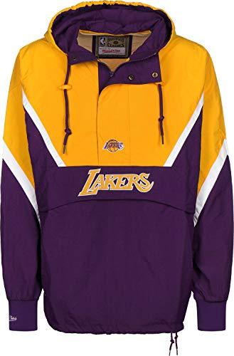 Mitchell & Ness Half Zip LA Lakers Windbreaker Purple/Yellow Half-zip Windbreaker