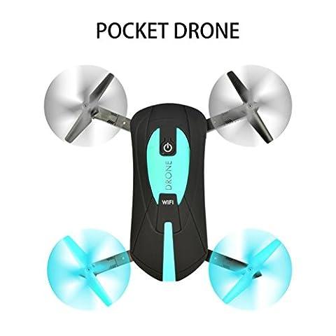 Ularma 2. 4 G 4CH Altitude Maintenez HD Appareil photo WIFI FPV RC Quadcopter Poche Drone Selfie Pliable (noir)