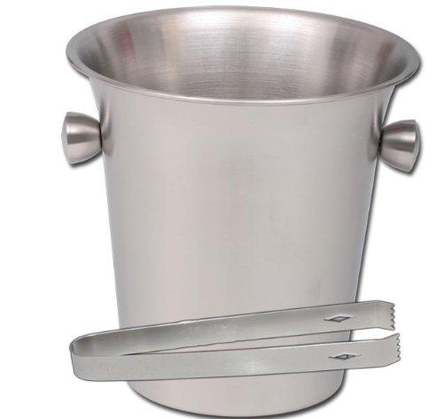 EDELSTAHL BAR Eiskühler Sektkühler + Eisgreifer Modell ELECSA 1221 (Greifer Kühler)