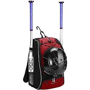 AmazonBasics - Rucksack für Baseball-Ausrüstung für Jugendliche, Rot