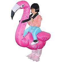 ShiyiUP Disfraces Inflable Flamencos Traje Hinchable para Halloween Niños
