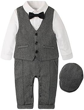 EOZY Junge Spielanzug Bodysuit Gentleman Strampler Taufe Anzug