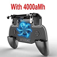 Stretchable Gamepad Handle with Heat Sink Moblie Phone Bracket Rocker Controller Mobile Gaming Trigger Shooter 4000mAh