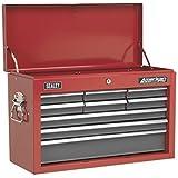 Sealey AP22509BB 9 Lade bovenborst met kogellagerlopers, rood/grijs